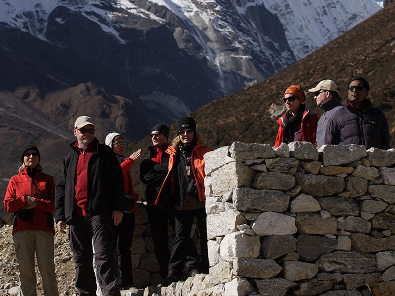trekkers enjoying the view
